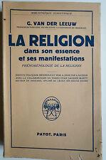 La religion dans son essence et ses manifestations, Religion, Philosopphie,