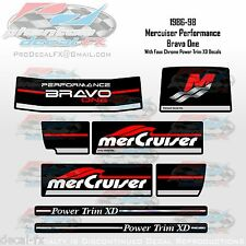 1986-98 MSD-B1 Performance Decal Set Mercruiser Sterndrive Bravo One 8 Pc Vinyl