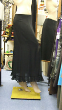Joseph Ribkoff BNWT UK 10 Divine Long Black Chiffon Double Layer Evening Skirt