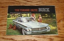 Original 1960 Buick Full Line Black Cover Foldout Sales Brochure 60 LeSabre