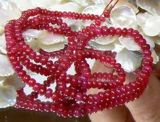 "RARE GENUINE NATURAL UNTREATED RED RUBY BEADs RUBIES 57.5ctw 16"" STRAND"