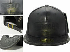 Xmas Gift 2015 New Hot Black Leather FRESH Snapback Baseball Cap Men Era Dope...