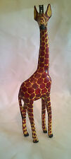 Small Hand Carved and Painted Wooden Giraffe (30cms)( 1ft)