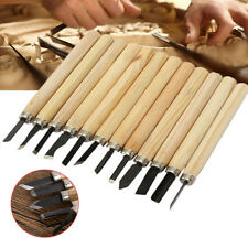 12pcs Wood Carving Hand Woodworkers Tool Knife Chisel Set Professional Sculpture