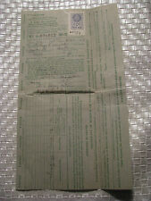 V -Fuel Oil Ration Coupon Issued 3-3-1943 W-5  From Chatham New Jersey