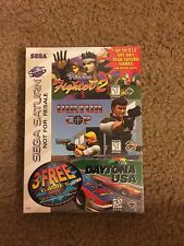 SEGA SATURN 3 IN 1 PACK BUNDLE VIRTUA FIGHTER 2, COP,DAYTONA SEALED SEGA 3 PACK