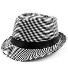 Mens Ladies Casual Canvas Fedora Panama Crushable Trilby Sun Hat Summer Hat New