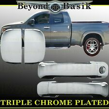 2007-2017 TOYOTA TUNDRA 4Dr Double Cab Chrome Door Handle Covers Overlays Trims
