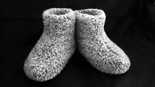 Size 10 - GREY - WOMEN'S MERINO WOOL BOOTS WARM COZY SLIPPERS MOCCASINS CHUNI