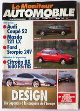 Le moniteur Automobile 16/5/1991; Dossier Design/ Audi Coupé S2/ Ford Scorpio
