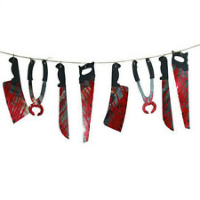 Halloween Party Bloody Saw Knife Tools Garland Hanging Decoration Halloween Prop
