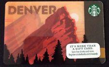 """Starbucks 2016 """"DENVER"""" Red Rocks Gift Card"""