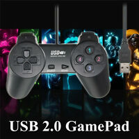 2 X USB 2.0 Wired Gamepad Game Controller Joystick Joypad For PC Laptop Computer