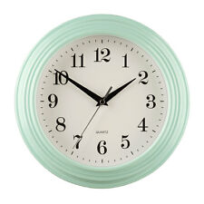 26cm Pale Blue Large Vintage Quartz Kitchen Home Bedroom Office Work Wall Clock