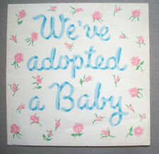 Congratulations New Baby Adopted vintage greeting card  *AA
