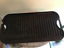 "Lodge Logic Pro Reversible Seasoned Cast Iron Griddle Grill Campfire 20x11"" USA"