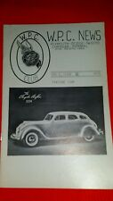 W.P.C. CHRYSLER CLUB news letter featuring 1934 Chrysler Airflow