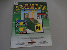 SKEE BALL  UB QB II 2 FOOTBALL CHALLENGE    FLYER     arcade game ad