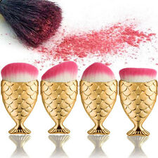 4PCS Fish Scale Makeup Brush Fishtail Bottom Brush Powder Blush Cosmetic Brush