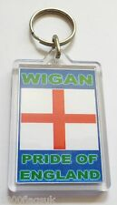 Wigan Athletic Pride of England Acrylic Key Ring Keyring *