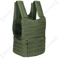 Olive Green PADDED TACTICAL MOLLE ASSAULT VEST Airsoft Paintball Combat Rig Top