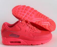 NIKE MEN AIR MAX 90 iD SOLAR RED PINK SZ 9.5  [653533-982]