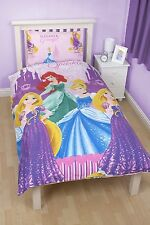 Disney Princess Dreams Wende Bettwäsche 135 x 200 cm NEU Rapunzel Ariel