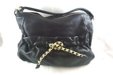 Women's RADLEY LONDON Black Leather Handbag Pocketbook Purse Slouch