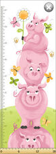 Susybee Flip The Pig Height Chart Panel Quilting Fabric - 45cm x 110cm