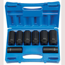 """Grey Pneumatic 1708SN 1/2"""" Drive 8 pc. Spindle/Axle Nut Set - 12 Point"""