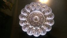 Antique Glass OysterDeviled Egg Plater