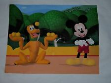 1 MICKEY MOUSE & PLUTO DISNEY QUILT SQUARE SEW BLOCK FABRIC KIDS CLUBHOUSE