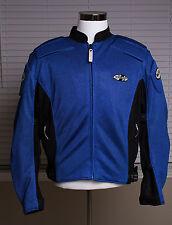 Men's Joe Rocket Ballistic Mesh Motorcycle Blue Padded Armor Jacket Sz XL