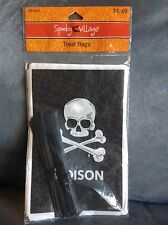 HALLOWEEN TREAT BAGS 40 COUNT FOR TRICK OR TREAT - BLACK SKULLS POISON- NEW