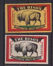 Ancienne étiquette allumettes Italie    Scooter   Bison
