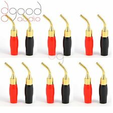 12 x Gold Plated Angled Speaker Pins 2mm Banana Plug Quality Terminal Connector