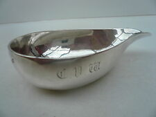 Silver Pap Boat, Sterling, Antique, English, Hallmarked London 1747.