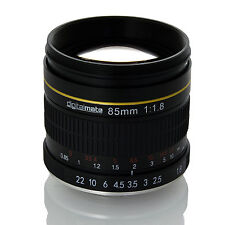 Digitalmate 85mm f/1.8 Manual Focus Aspherical Medium Lens for Panasonic Lumix