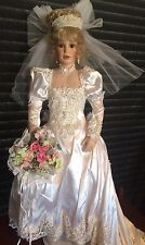 """Gorgeous Bride Shay porcelain doll by Donna Rubert 32"""" 350/2000 COA"""