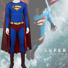 HZYM Men's Superman Returns Cosplay Superman Costume