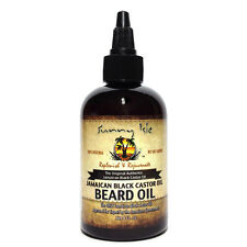 100% Natural Jamaican Black Castor Beard Oil 4oz By Sunny Isle No Salt Added