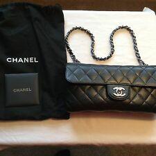 Authentic Black Chanel East West Tote Caviar SHW