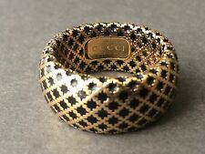Gucci Diamantissima 18K Gold & Black Enamel Ring *ONLY ONE ON EBAY* NICE!