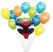 SpiderMan Birthday Party Balloon Bouquet Set of 11  Balloons