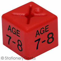 50 Coat Hanger Size Cubes Childrenswear DUAL AGE 7-8 RED Garment Clothes Marker