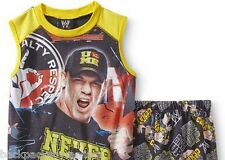WWE John CENA Pajamas Boy's 7/8 NeW Muscle Shirt Shorts Pjs Set Never Give Up