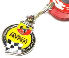 Fiat Abarth Merchandise 500 695 Tributo Ferrari Metal Keyring Official Genuine