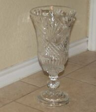 SHANNON Irish Crystal Hurricane Lamp - Candle Holder