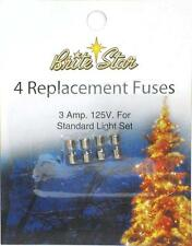 NEW Replacement 3 AMP Set of 4 Fuses for Mini Bulb Christmas Lights US Seller