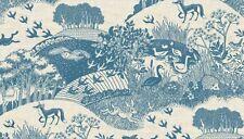 Fat Quarter Heartwood Animals Blue Fox Deer 100% Cotton Quilting Fabric Makower